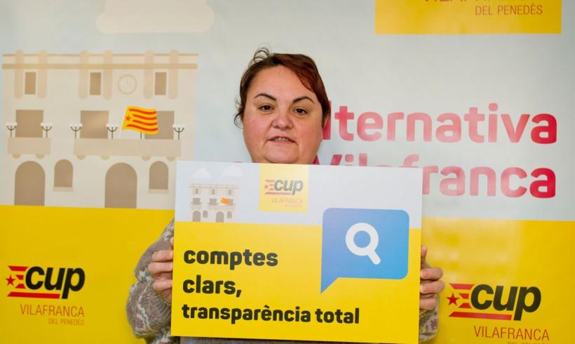La CUP de Vilafranca convoca un concurs per trobar l'apartat de la pàgina del web de l'Ajuntament on s'informa dels sous i dietes dels regidors i càrrecs de confiança