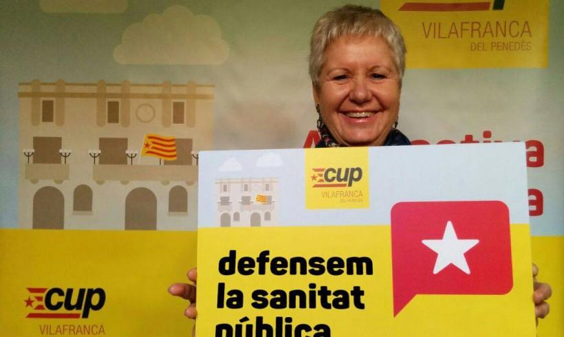 La diputada per la CUP-AE Isabel Vallet serà dimarts dia 28 d'abril a Vilafranca