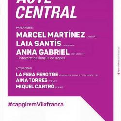 La CUP de Vilafranca convida a tots els vilafranquins i vilafranquines al seu acte central de campanya per les eleccions municipals de 2015