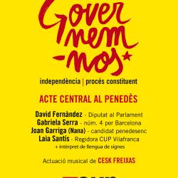 El diputat David Fernández serà a l'acte  central de campanya de la CUP-Crida  Constituent al Penedès