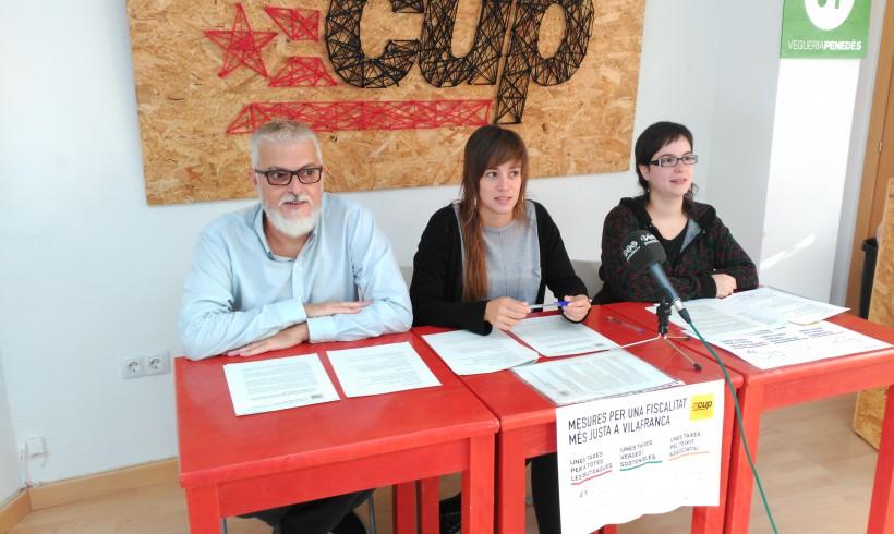 La CUP de Vilafranca presenta 14 mesures per a una fiscalitat més justa