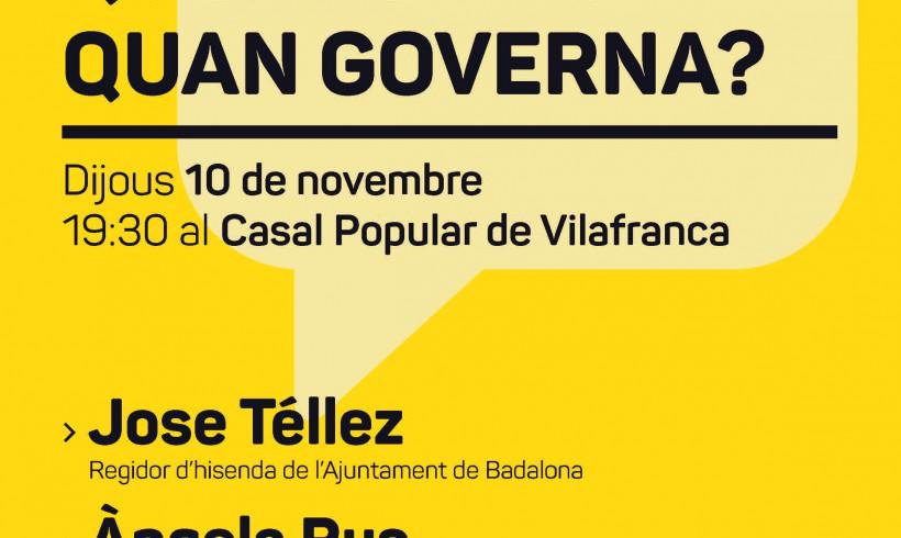 La CUP de Vilafranca organitza una xerrada sobre Pressupostos Municipals