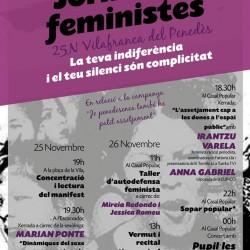 L'ESQUERRA INDEPENDENTISTA DE VILAFRANCA PRESENTA UNES JORNADES FEMINISTES AMB MOTIU DEL 25 DE NOVEMBRE