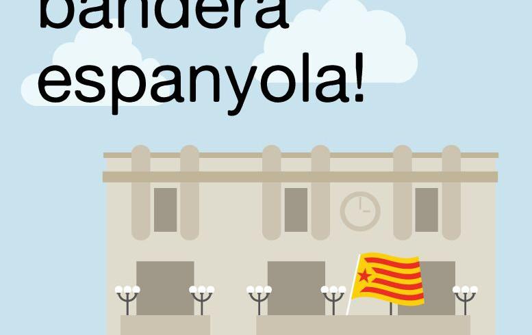 COMUNICAT   La CUP demana a l'alcalde Pere Regull que retiri la bandera espanyola de la casa de la Vila