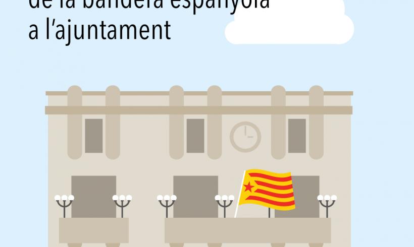 CONVOCATÒRIA   Concentració de rebuig a la bandera espanyola