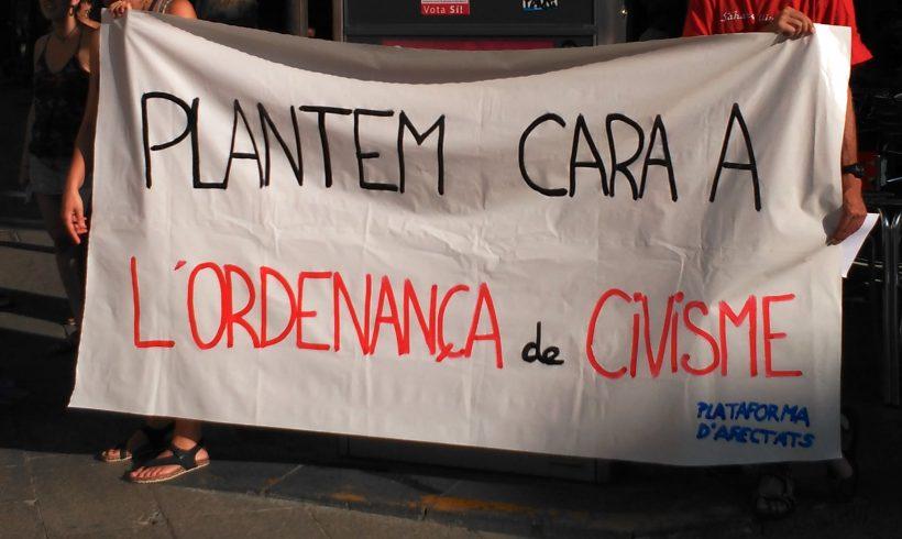 NOTÍCIA | Diversos col·lectius han denunciat l'ordenança de civisme, que endureix el control social cap a la població a través de multes