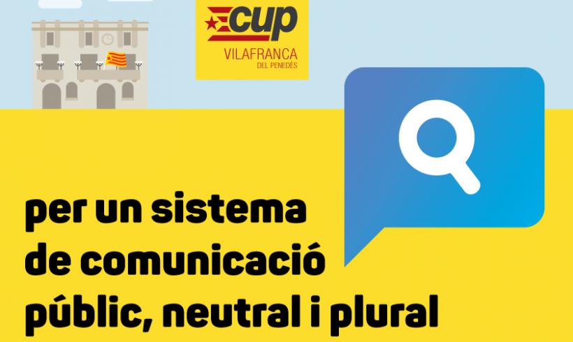 NOTÍCIA | La CUP denuncia l'ús partidista de les eines de comunicació municipals