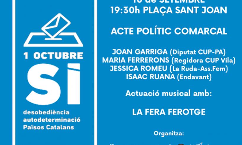 NOTÍCIA | El diputat Joan Garriga serà a l'acte polític de l'Esquerra Independentista el 10-S