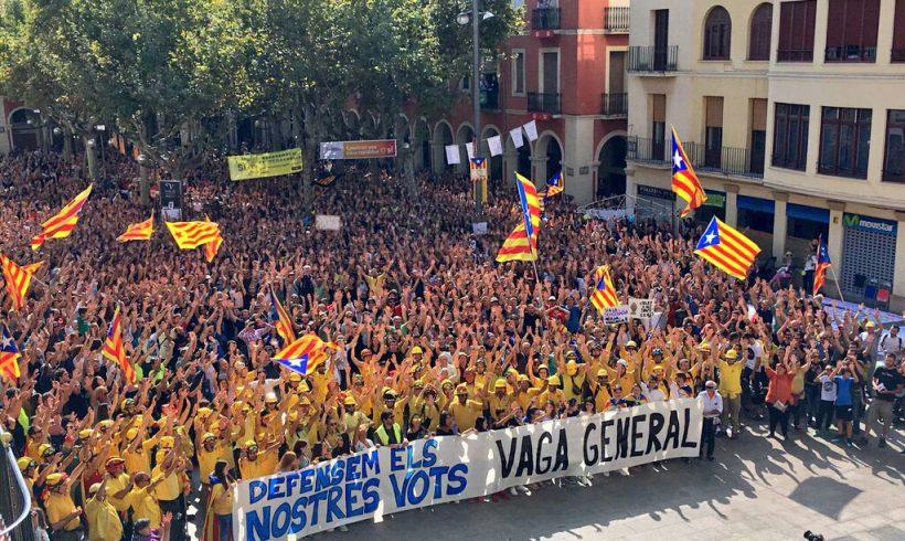 NOTÍCIA   Jornada de vaga general amb manifestació multitudinària a Vilafranca