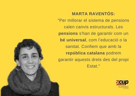 NOTÍCIA | La CUP dóna suport a la concentració en defensa de les pensions públiques