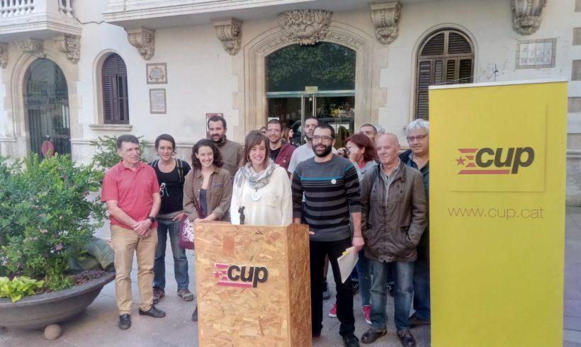 NOTÍCIA   La CUP fa balanç de la legislatura i es reivindica com l'alternativa de canvi a l'Ajuntament