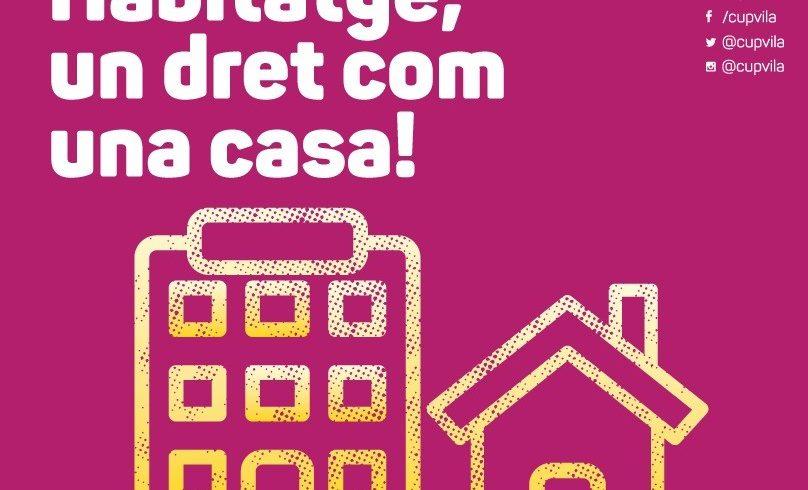 NOTÍCIA | La CUP de Vilafranca proposa mesures urgents davant l'emergència habitacional agreujada per la pandèmia